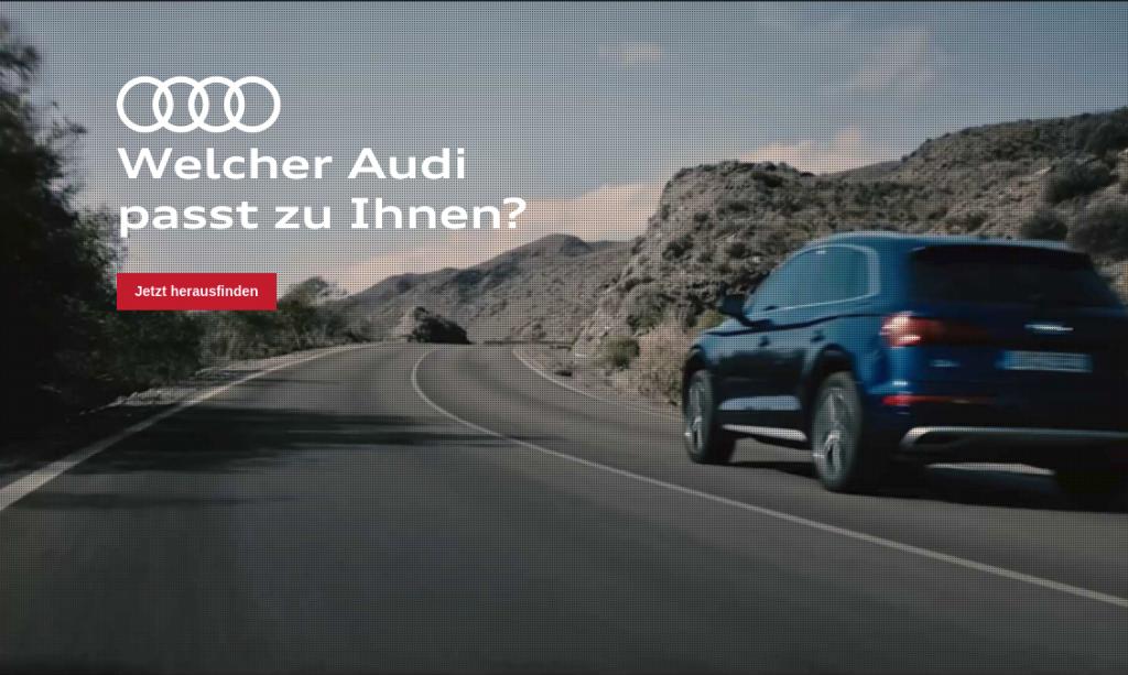 Welcher Audi passt zu Ihnen?