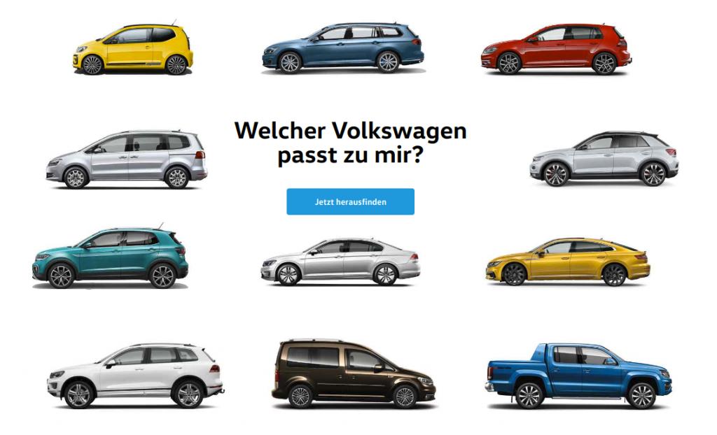 Welcher Volkswagen passt zu mir?